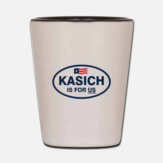 Kasich Is For US Shot Glass