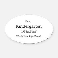 Kindergarten Teacher Oval Car Magnet