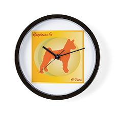 Pumi Happiness Wall Clock