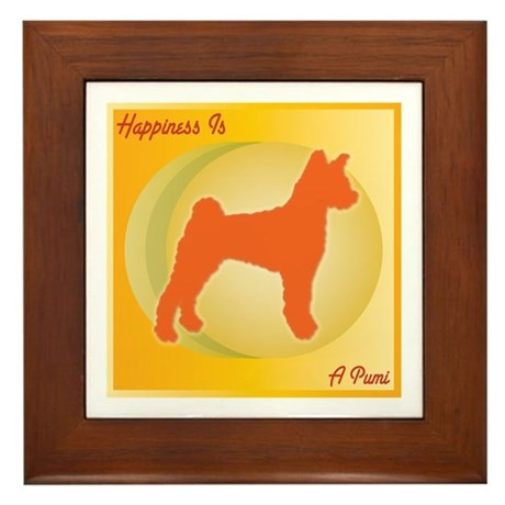Pumi Happiness Framed Tile