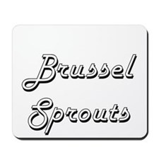 Brussels Sprouts Classic Retro Design Mousepad
