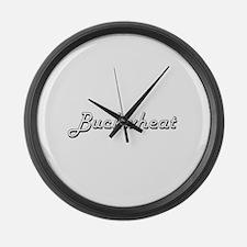 Buckwheat Classic Retro Design Large Wall Clock