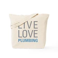 Live Love Plumbing Tote Bag