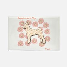 Pumi Happiness Rectangle Magnet