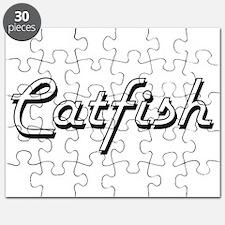 Catfish Classic Retro Design Puzzle