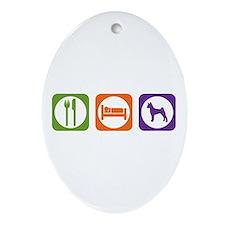 Eat Sleep Pumi Oval Ornament