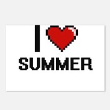 I love Summer Digital Des Postcards (Package of 8)