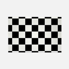 checker board Rectangle Magnet