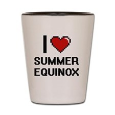 I love Summer Equinox Digital Design Shot Glass