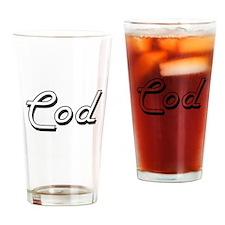 Cod Classic Retro Design Drinking Glass