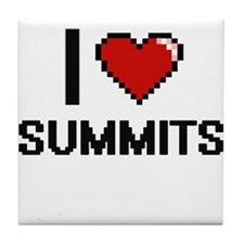 I love Summits Digital Design Tile Coaster