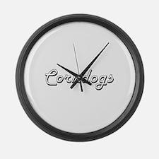 Corndogs Classic Retro Design Large Wall Clock
