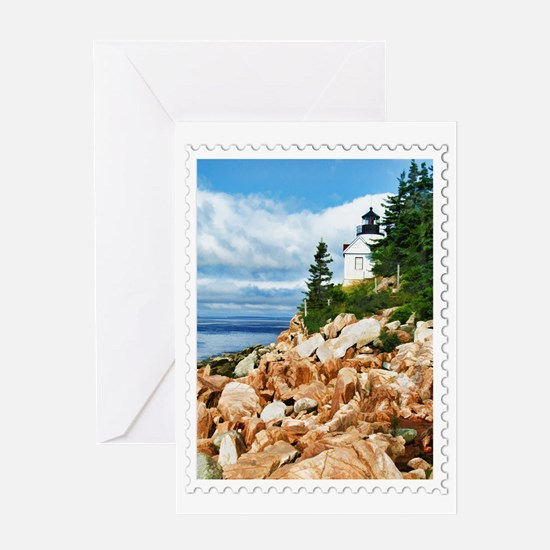 Bass Harbor Acadia National Park Mai Greeting Card