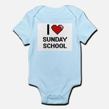 I love Sunday School Digital Design Body Suit