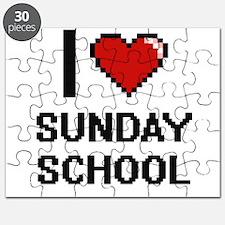 I love Sunday School Digital Design Puzzle