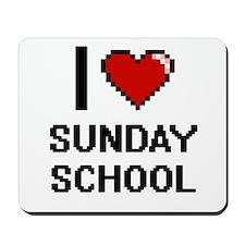 I love Sunday School Digital Design Mousepad