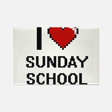 I love Sunday School Digital Design Magnets