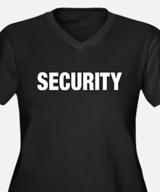 Security Women's Plus Size V-Neck Dark T-Shirt