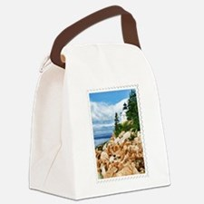 Bass Harbor Acadia National Park Canvas Lunch Bag
