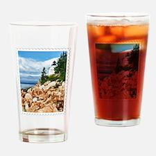 Bass Harbor Acadia National Park Ma Drinking Glass