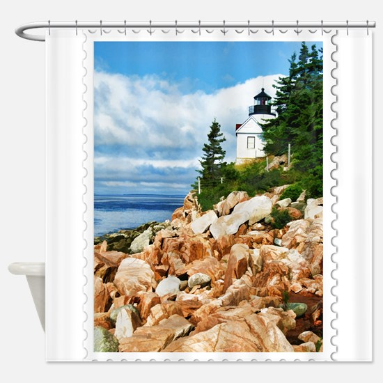 Bass Harbor Acadia National Park Ma Shower Curtain