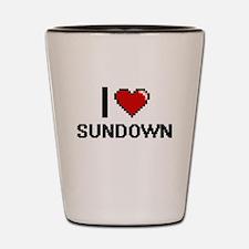 I love Sundown Digital Design Shot Glass