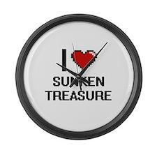 I love Sunken Treasure Digital De Large Wall Clock