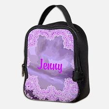 Purple Handkerchief Abstract Neoprene Lunch Bag