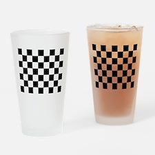 checker board Drinking Glass