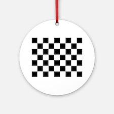 checker board Round Ornament
