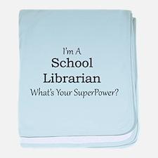 School Librarian baby blanket