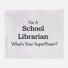 School Librarian Throw Blanket