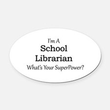 School Librarian Oval Car Magnet