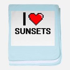 I love Sunsets Digital Design baby blanket