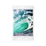 Ocean waves 3x5 Rugs