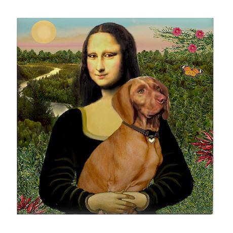 Mona Lisa (new) & Vizsla Tile Coaster