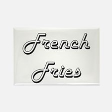 French Fries Classic Retro Design Magnets