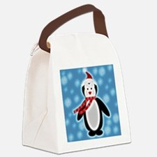 Happy X-mas Penguine Canvas Lunch Bag