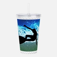 Graphic Surfer on Big Acrylic Double-wall Tumbler