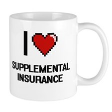 I love Supplemental Insurance Digital Design Mugs