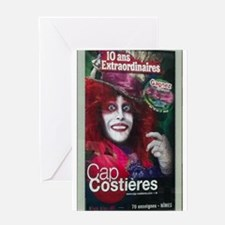 French Poster Greeting Cards