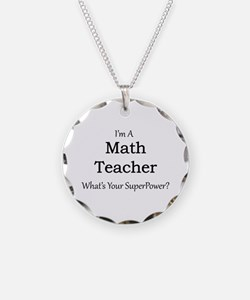 Math Teacher Necklace