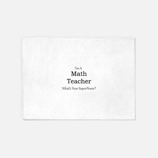 Math Teacher 5'x7'Area Rug