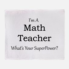 Math Teacher Throw Blanket