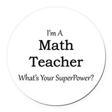 Math Teacher Round Car Magnet