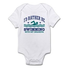 I'd Rather Be Swimming With My Gra Infant Bodysuit
