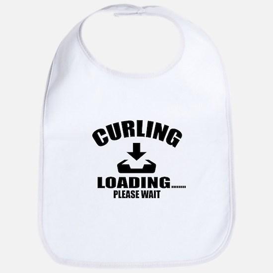 Curling Loading Please Wait Cotton Baby Bib