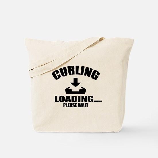 Curling Loading Please Wait Tote Bag