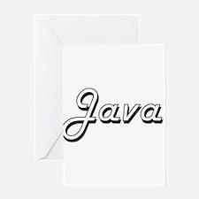 Java Classic Retro Design Greeting Cards