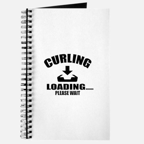 Curling Loading Please Wait Journal